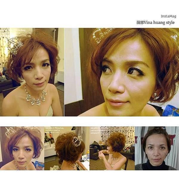 濱崎步短髮造型,龐克新娘造型,短髮新娘,台北新祕-薇娜vina huang.jpg