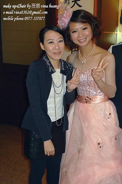 甜美紗帽造型,捲髮公主頭,俏麗捲髮包頭,台北新祕~薇娜vina huang (7).jpg