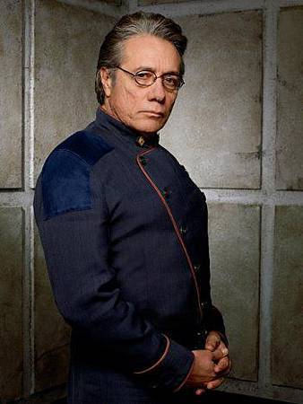 Edward James Olmos as Admiral William Adama.jpg