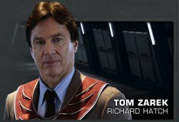Richard Hatch as  Tom Zarek.jpg