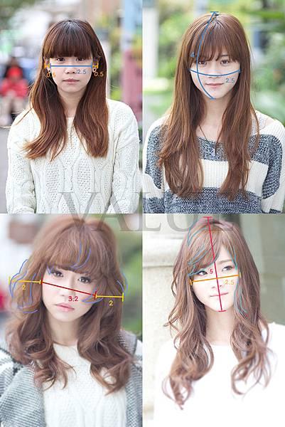 比例與臉部面積的關係