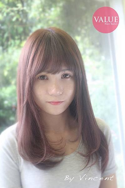 粉紫色系髮色2