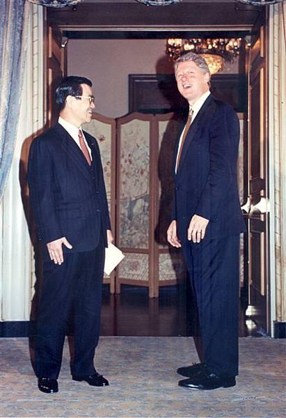 地主國主人柯林頓總統歡迎微笑老蕭