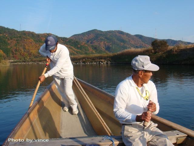 保津川遊船 賣力的船伕