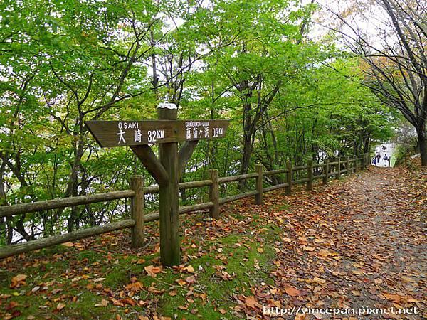 中禪寺湖北岸步道 指標