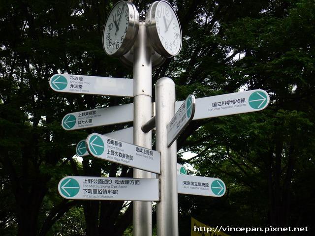 上野恩賜公園 指標