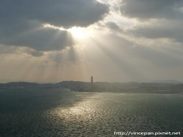 關門海峽夕陽