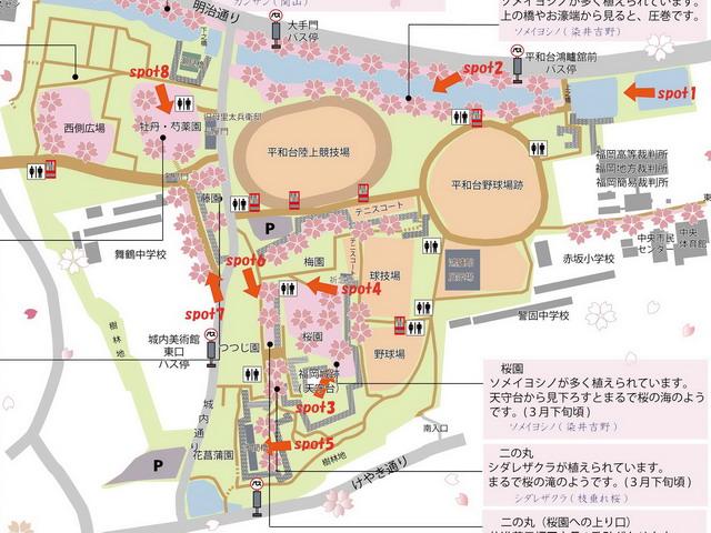 舞鶴公園賞櫻地圖