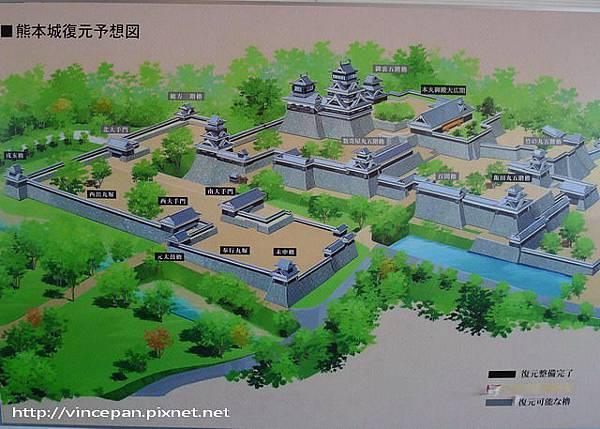 熊本城的復工重建圖