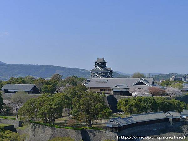 市役所看熊本城