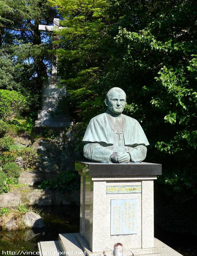教宗若望保祿二世銅像