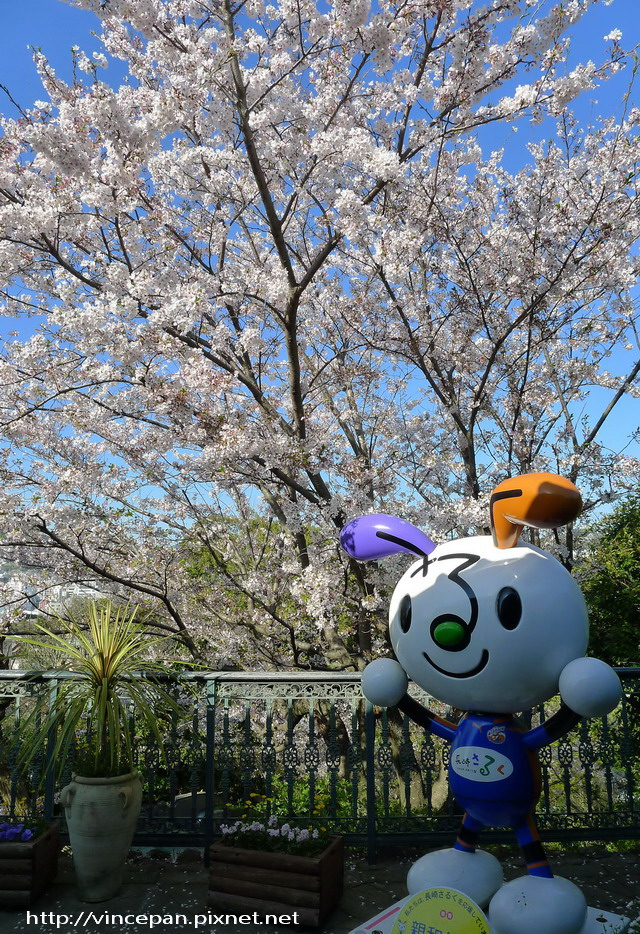 櫻花與觀光吉祥物
