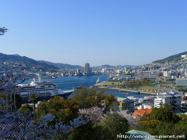 自由亭眺望長崎港