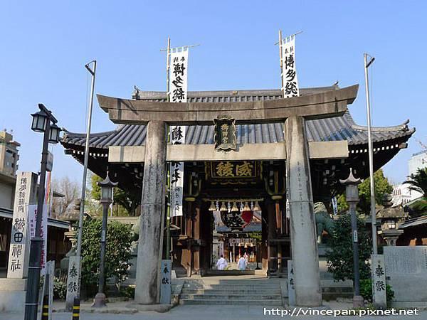櫛田神社正門