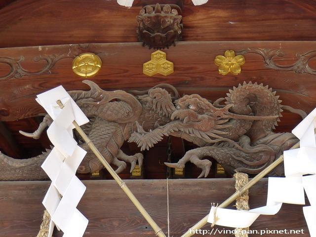 神社拜殿 龍雕飾
