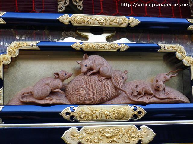 豐明台 老鼠雕刻
