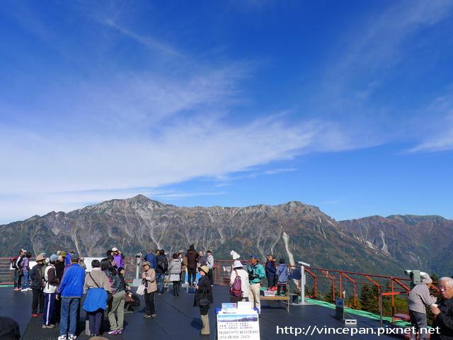 展望台 笠ヶ岳 遊客