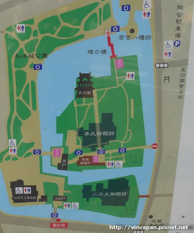 松本城平面圖