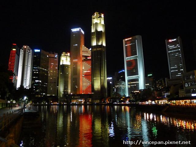 新加坡河畔夜景