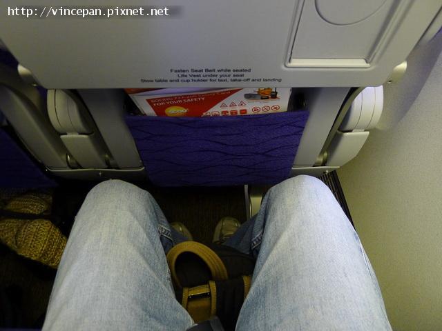 酷航座位空間