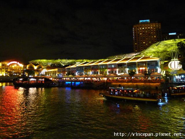 克拉碼頭 夜景 遊船2
