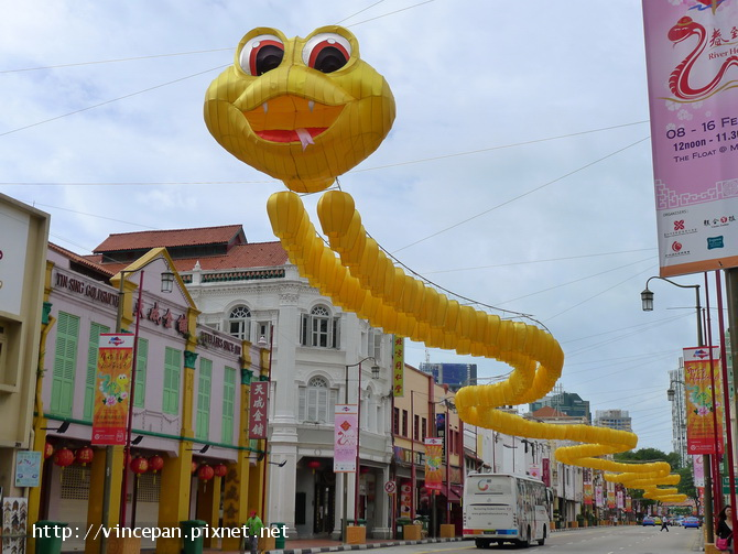 南橋路 蛇年燈飾