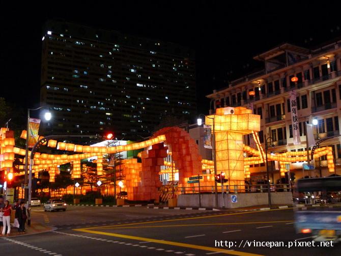 新橋路 蛇年燈飾  夜