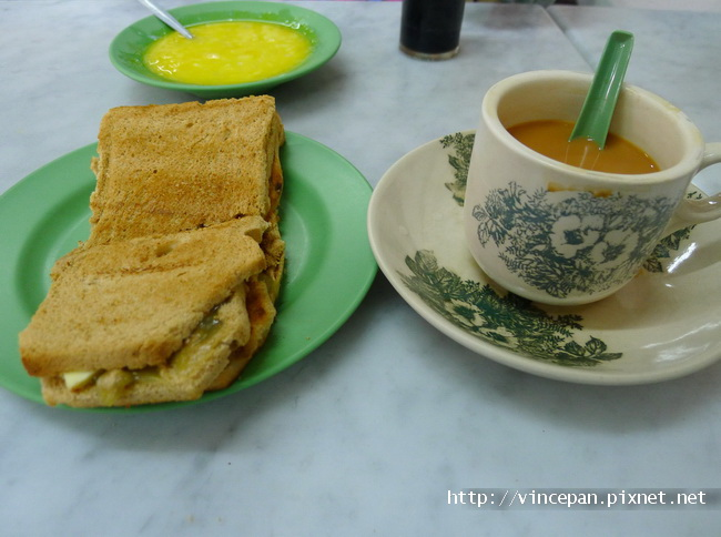 咖椰吐司加奶茶