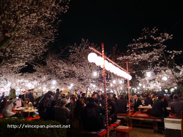 円山公園 聚餐遊客