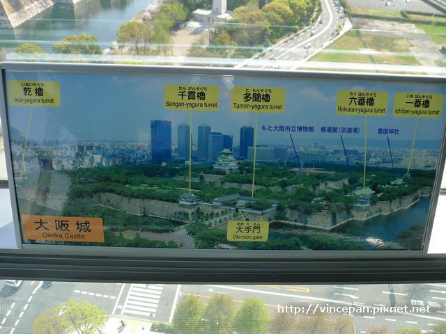 大阪城 對照圖