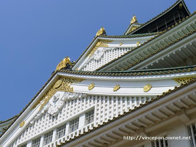 大阪城天守閣 屋簷