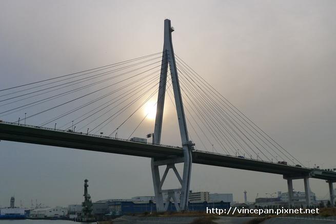 跨海大橋 夕陽