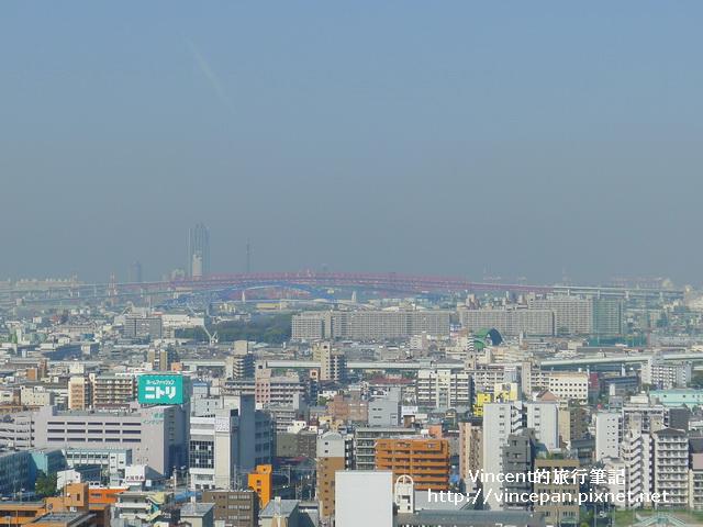 鐵橋與大阪市咲洲庁舎