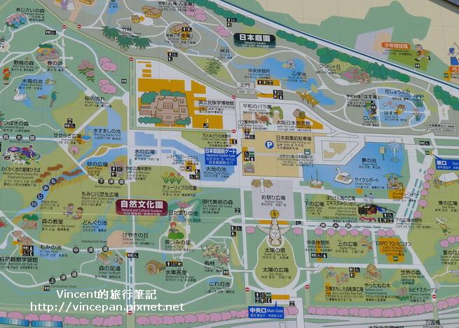 萬博紀念公園 地圖