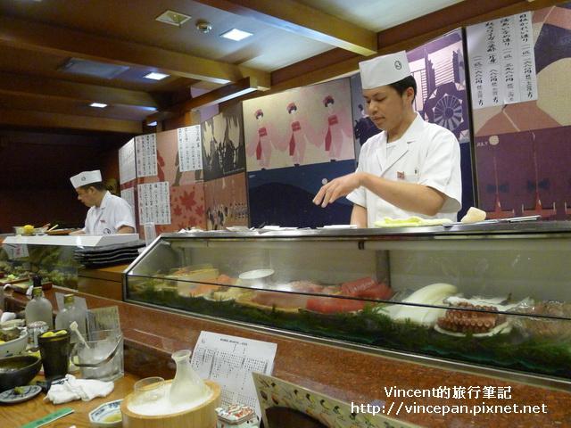 傳七壽司 料理台