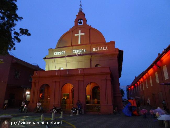 Christ Church Melaka 夜