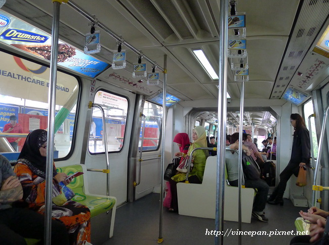 單軌電車 車內