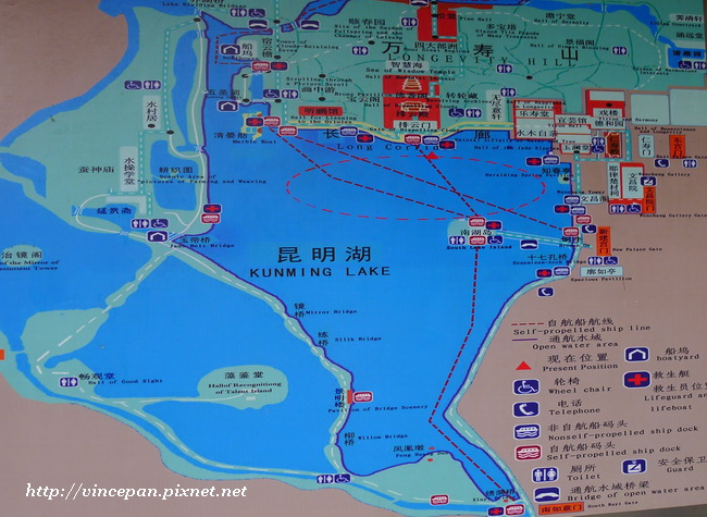 昆明湖 地圖