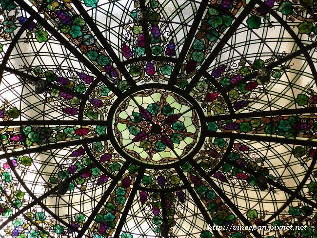 溫室屋頂彩繪玻璃