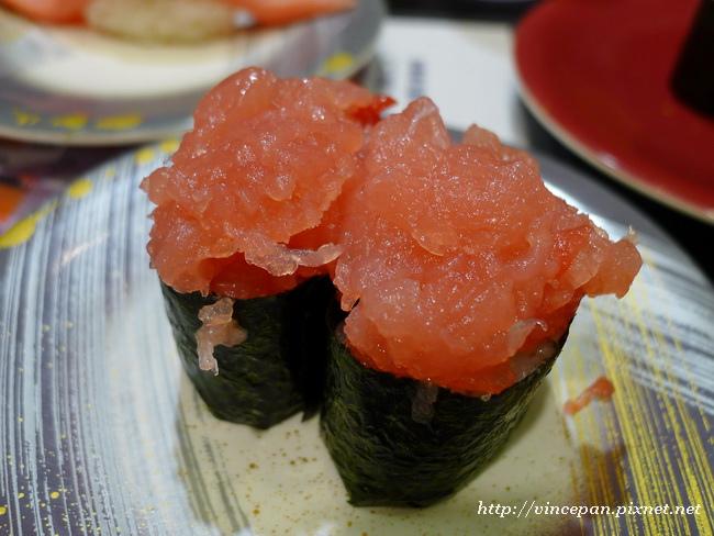 鮪魚下巴肉軍艦壽司
