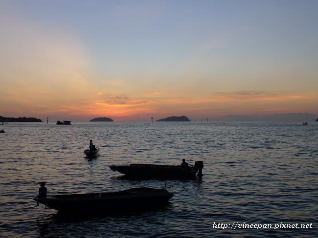 day2 晚霞 漁船