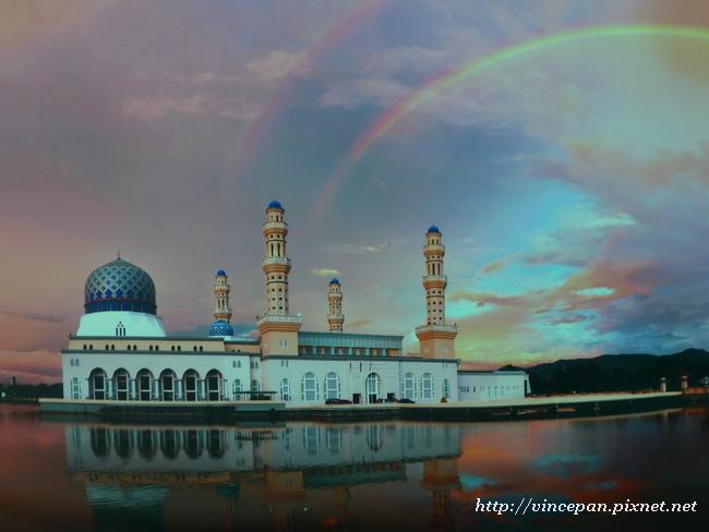 水上清真寺彩虹