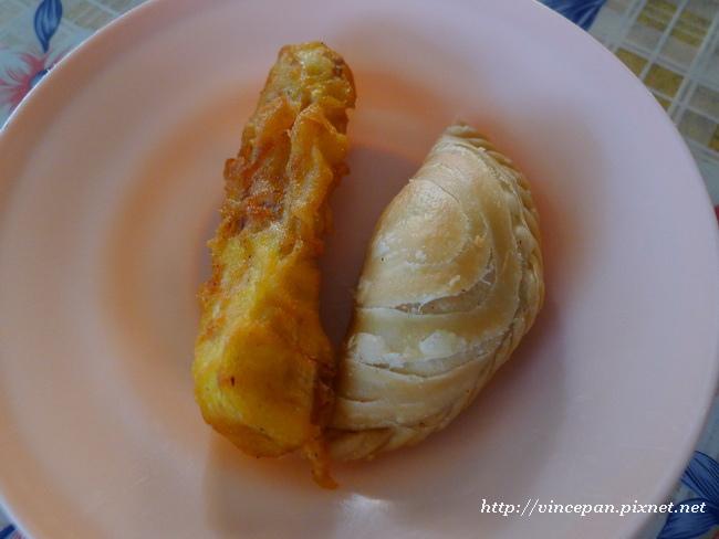炸香蕉與咖哩餃1