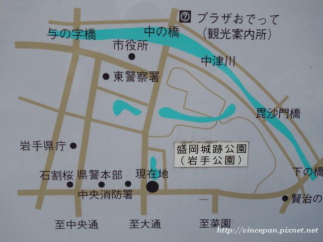 盛岡市區地圖
