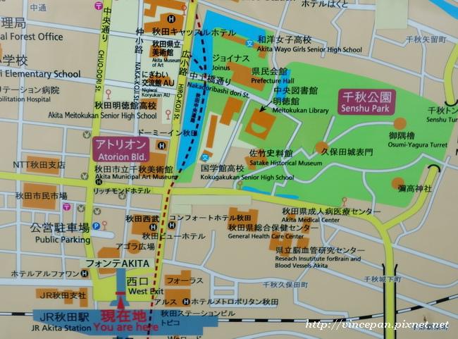 秋田市區圖