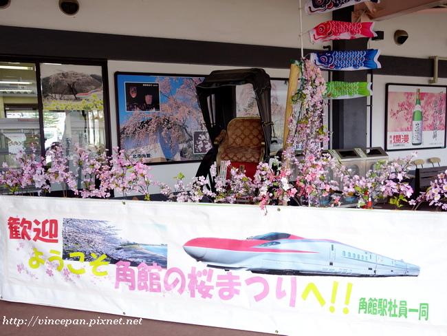 角館車站櫻花祭