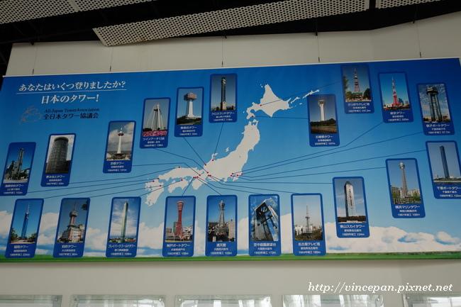 日本各地高塔