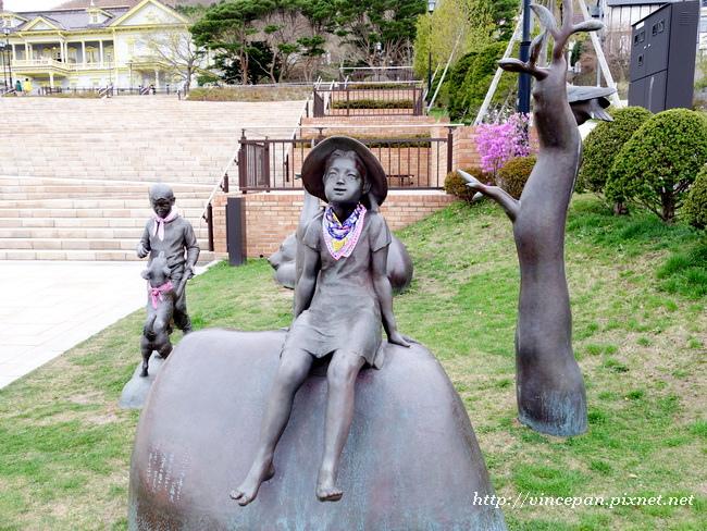 元町公園雕像2