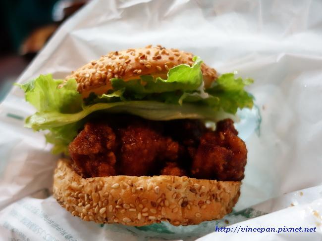 中國風味炸雞漢堡2