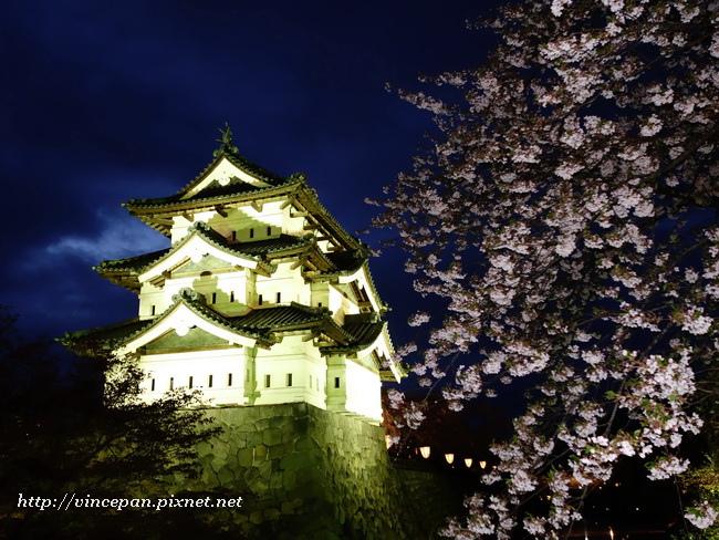 弘前城夜櫻2